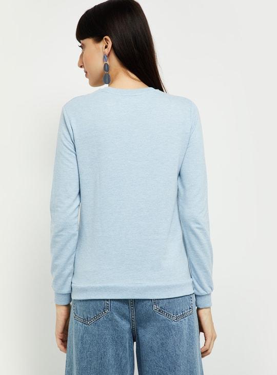 MAX Typographic Print Round-Neck Sweatshirt