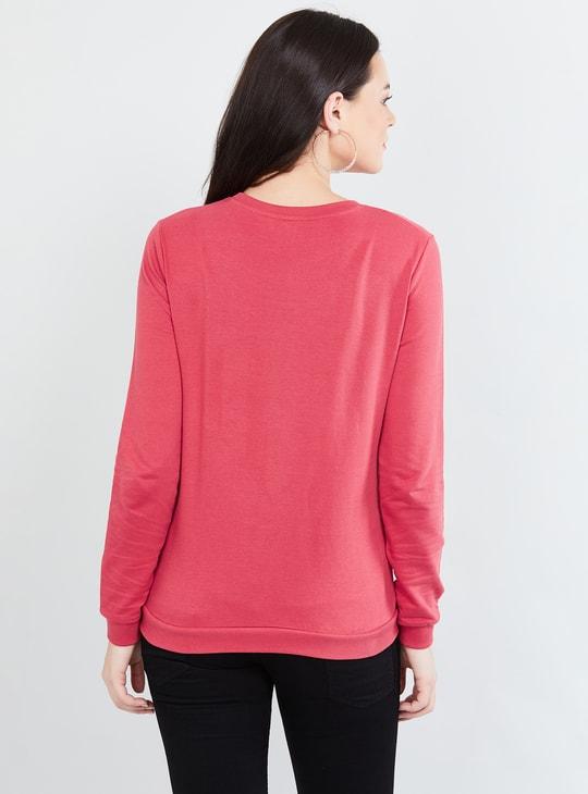 MAX Embellished Full Sleeves Sweatshirt