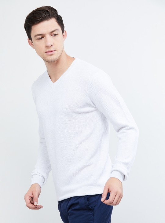 MAX Solid V-neck Sweater