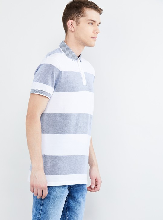 MAX Striped Slim Fit Polo T-shirt