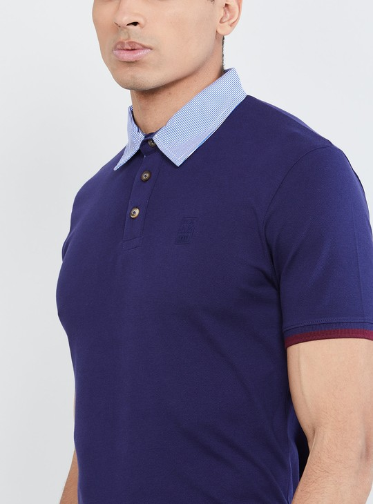 MAX Contrast Neck Polo T-shirt