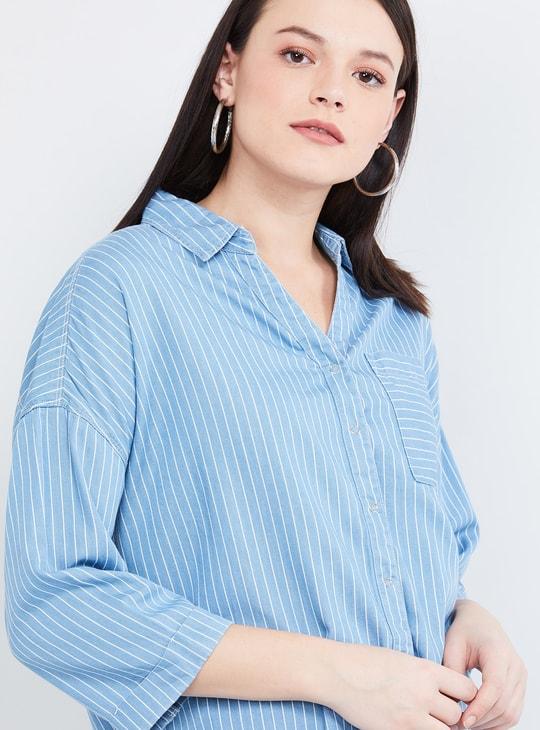 MAX Striped Three-quarter Sleeves Shirt