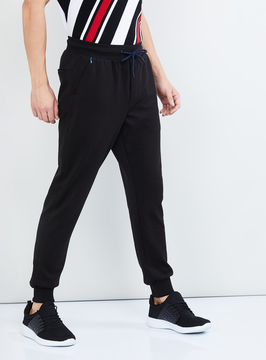 MAX Textured Joggers with Slant Pockets