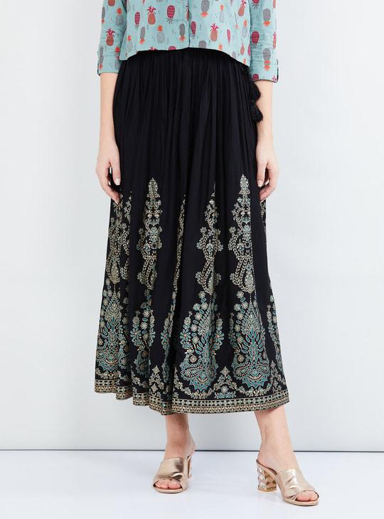 MAX Printed Elasticated Skirt
