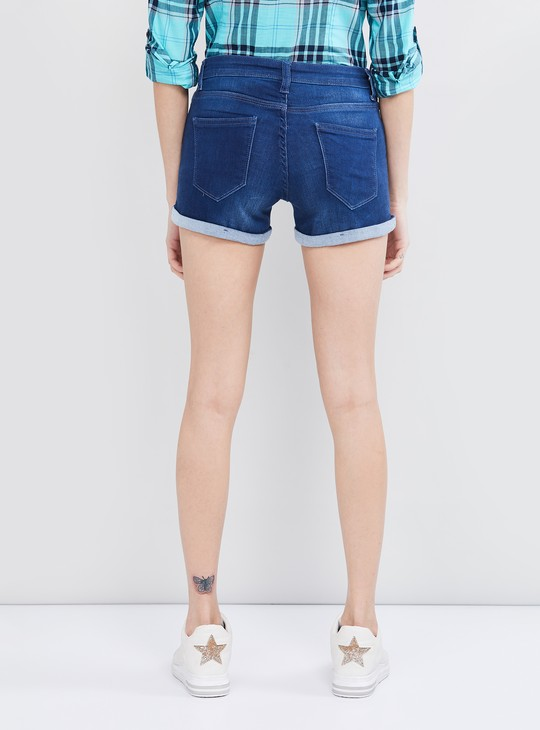 MAX Stonewashed Denim Shorts