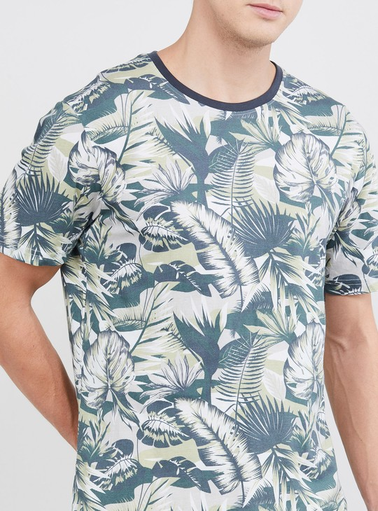 MAX Tropical Print Crew-Neck T-shirt