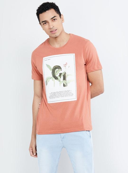 MAX Printed Crew Neck Regular Fit T-shirt