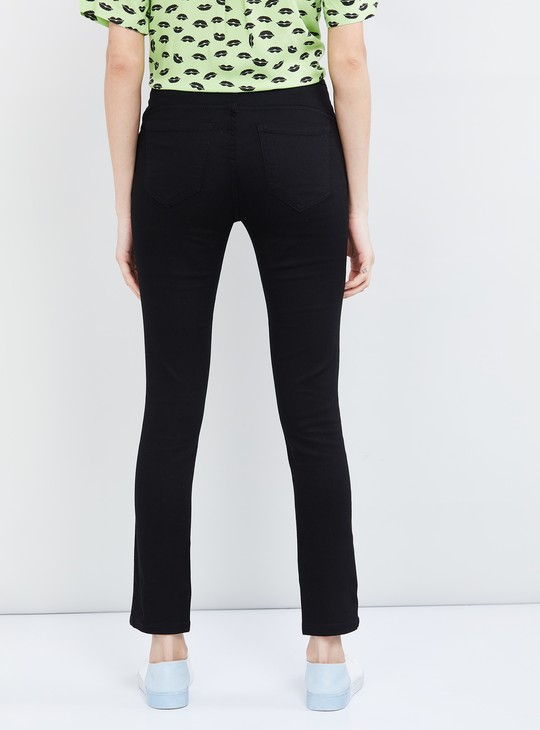MAX Solid Ankle-Length Trousers