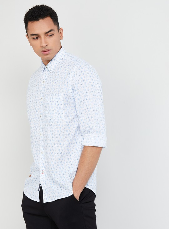 MAX Printed Full Sleeves Regular Fit Shirt