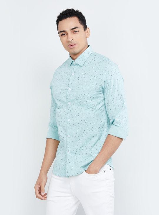 MAX Printed Full Sleeves Slim Fit Casual Shirt
