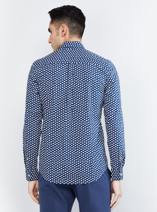 MAX Printed Casual Shirt with Patch Pocket