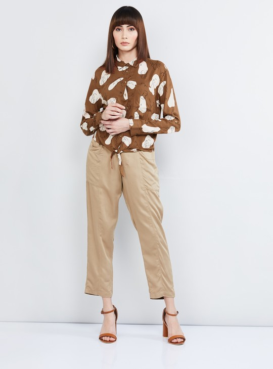 MAX Printed Shirt with Tie-Up Detail