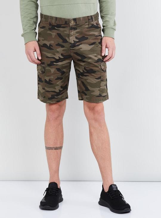 MAX Camouflage Print City Shorts