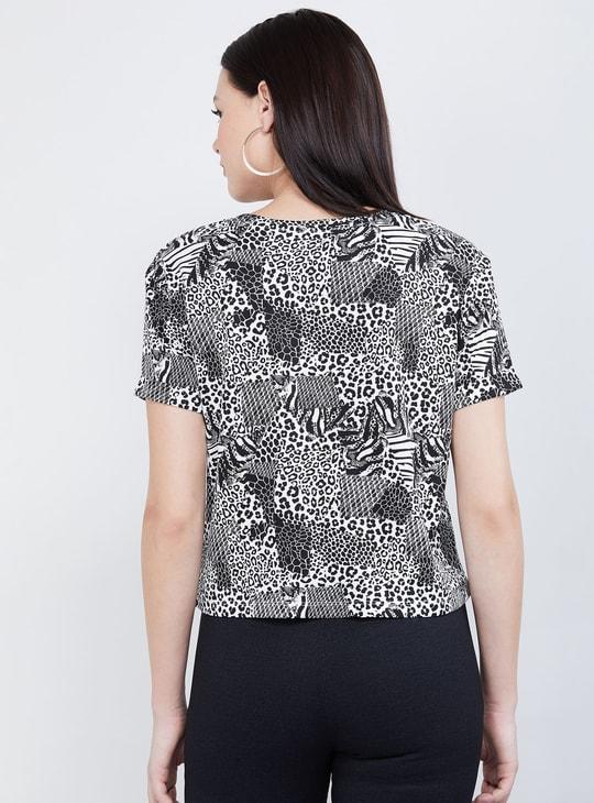 MAX Animal Print Short Sleeves T-shirt