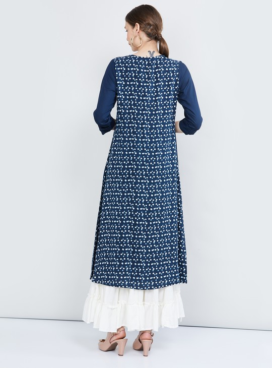 MAX Embellished Layered A-line Kurta