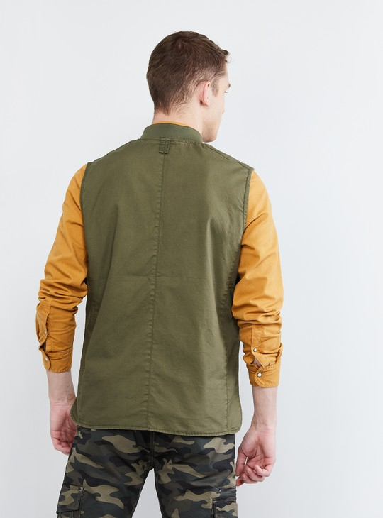 MAX Solid Sleeveless Jacket
