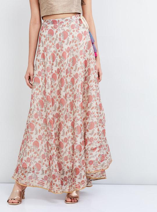 MAX Floral Print Maxi Skirt