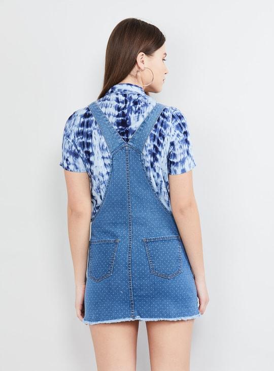MAX Printed Dungaree Dress