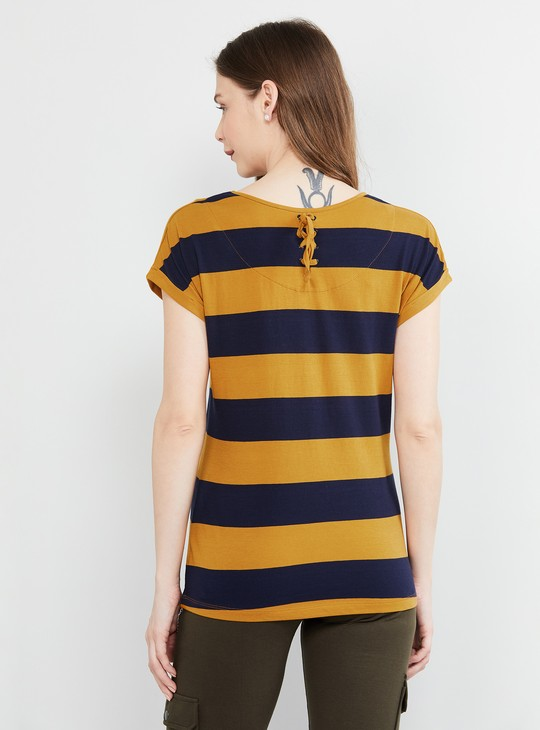 MAX Striped Cap Sleeves T-shirt