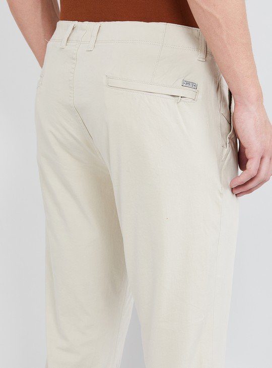 MAX Solid Skinny Fit Casual Trousers