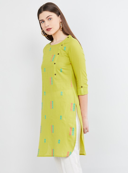 MAX Textured Straight Kurta
