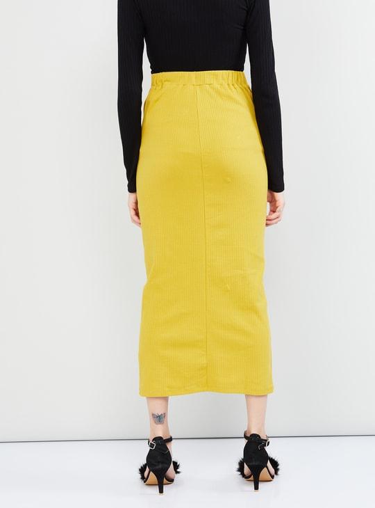 MAX Ribbed Midi Skirt