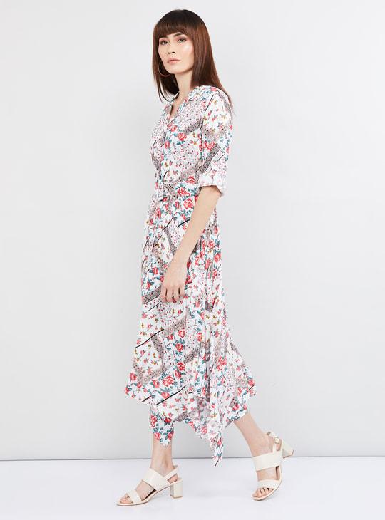 MAX Printed Asymmetric Dress