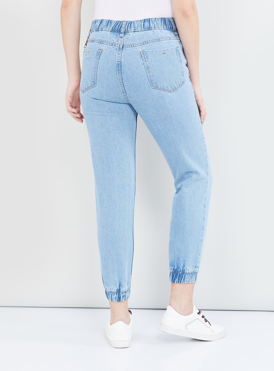 MAX Washed Denim Joggers