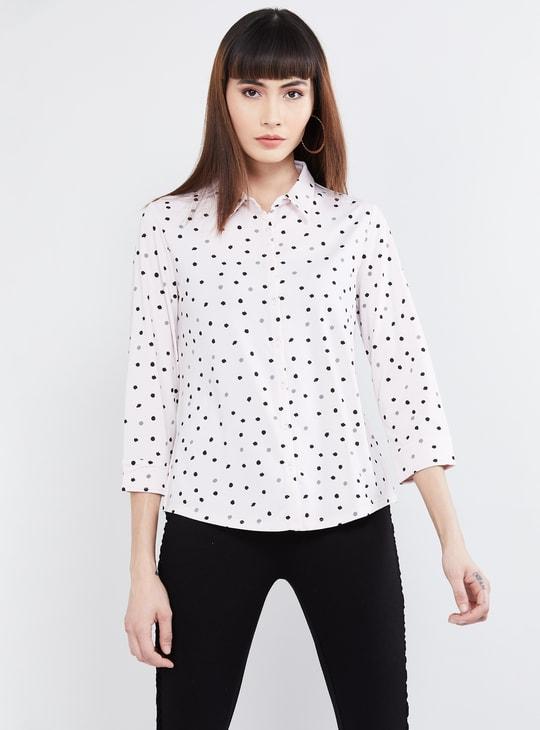MAX Printed Three-quarter Sleeves Shirt