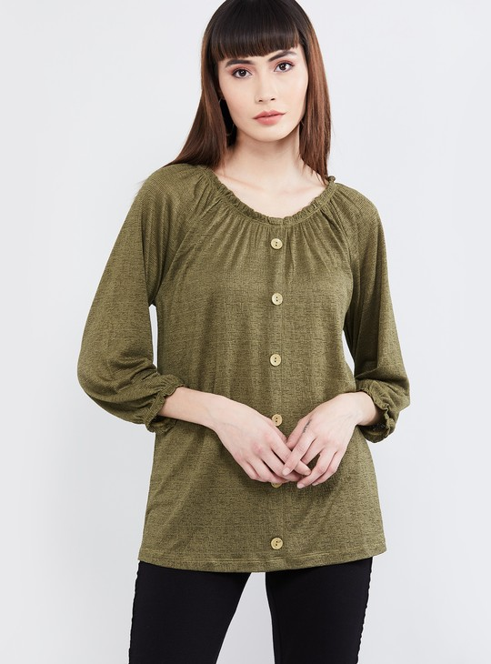 MAX Solid Round Neck Top