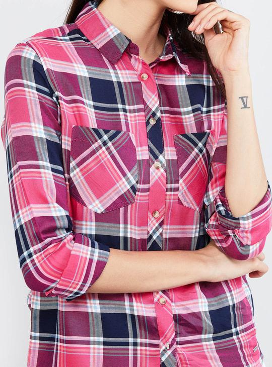 MAX Checked Full Sleeves Eco Liva Shirt