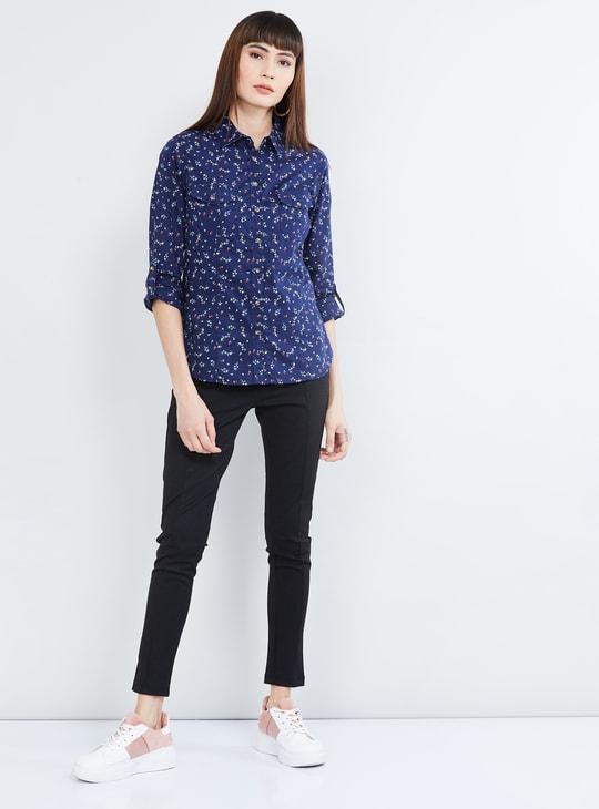 MAX Floral Print Full Sleeves Shirt