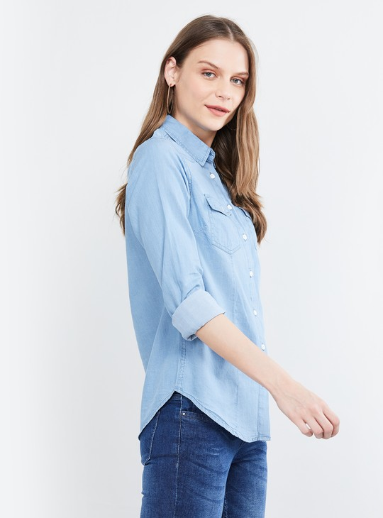 MAX Solid Full Sleeves Shirt