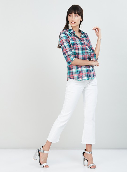 MAX Checked Roll-Up Sleeves Casual Shirt