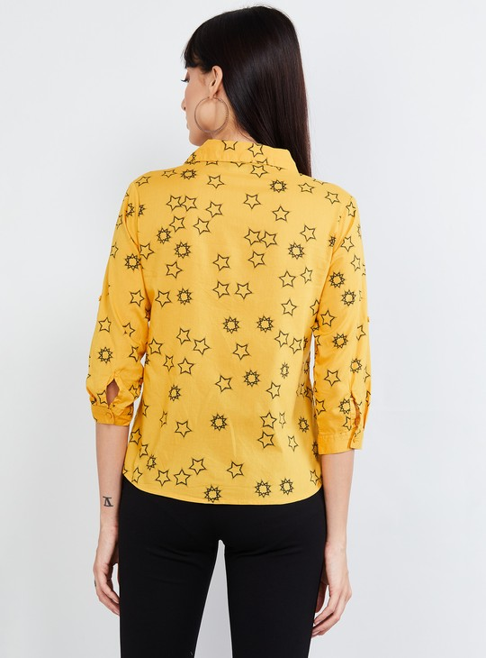 MAX Printed Roll-Up Sleeved Shirt