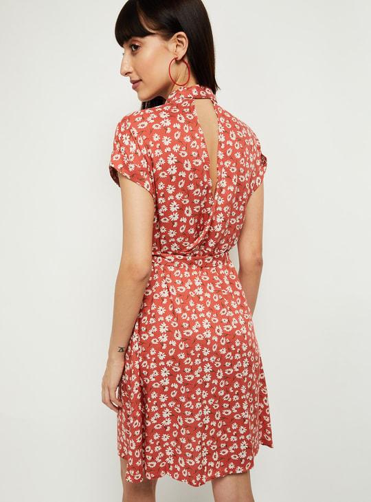 MAX Printed Eco Liva Shirt Dress with Stylised Back