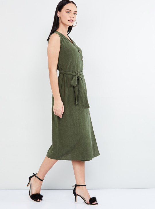 MAX Surplice Neck Sleeveless Wrap Dress