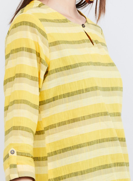 MAX Striped Three-quarter Sleeves KurtI