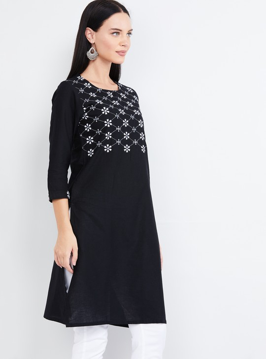 MAX Embroidered Straight Kurta