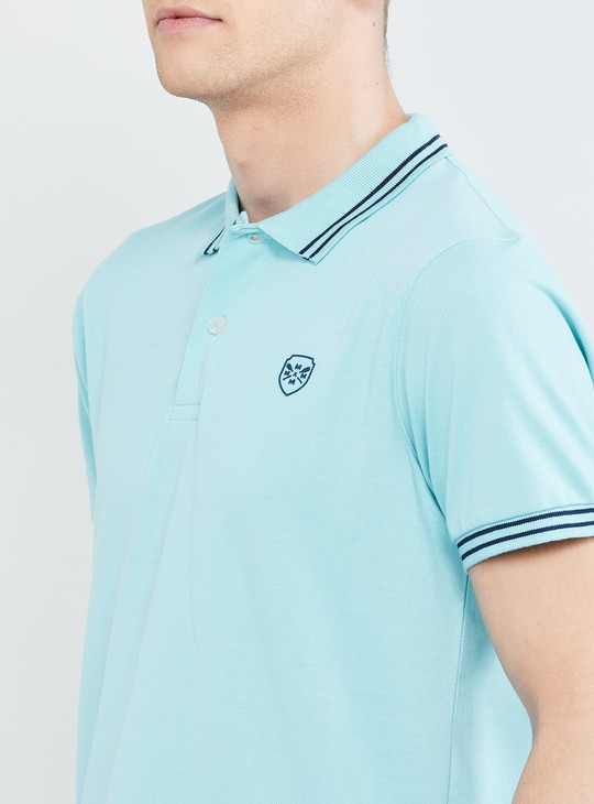 MAX Solid Polo Slim Fit T-shirt