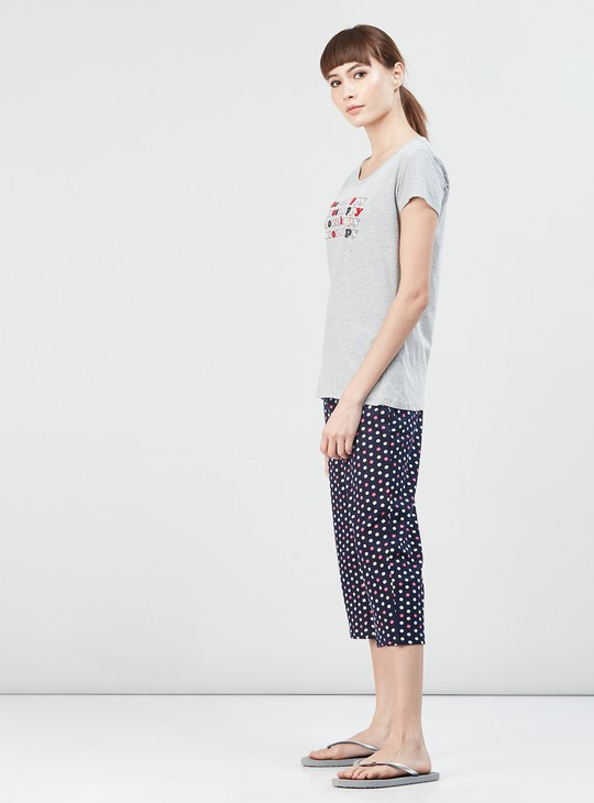 MAX Printed T-shirt and Capri