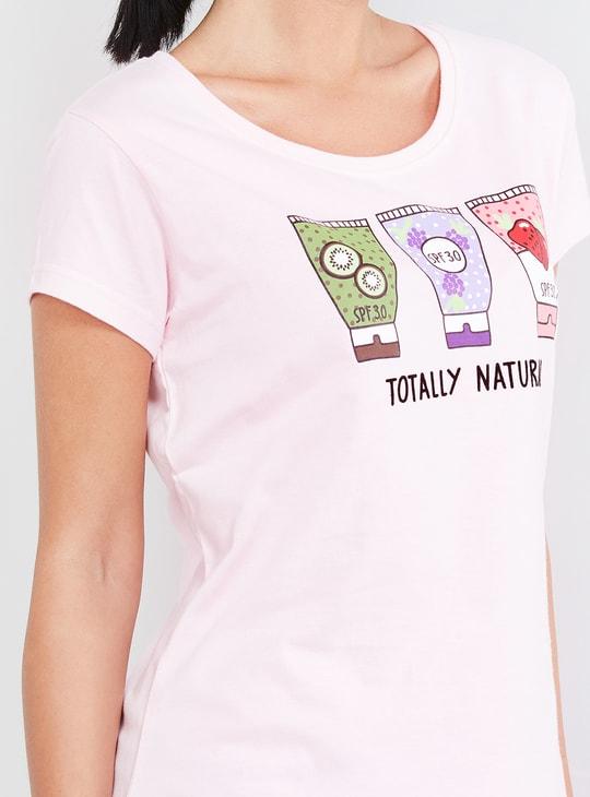 MAX Printed T-shirt and Elasticated Shorts