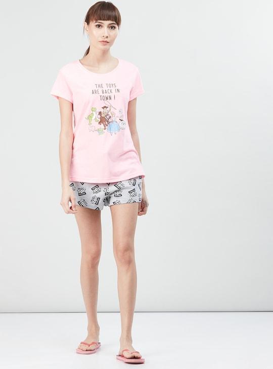 MAX Printed T-shirt with Elasticated Shorts