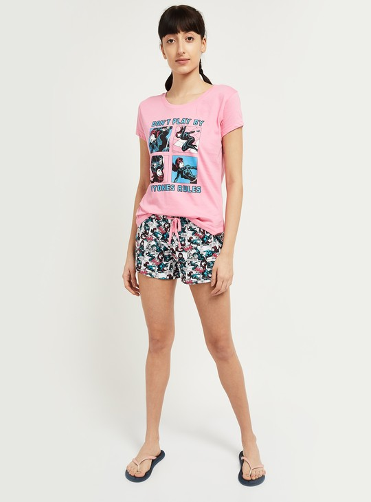 MAX Printed Lounge T-shirt with Shorts