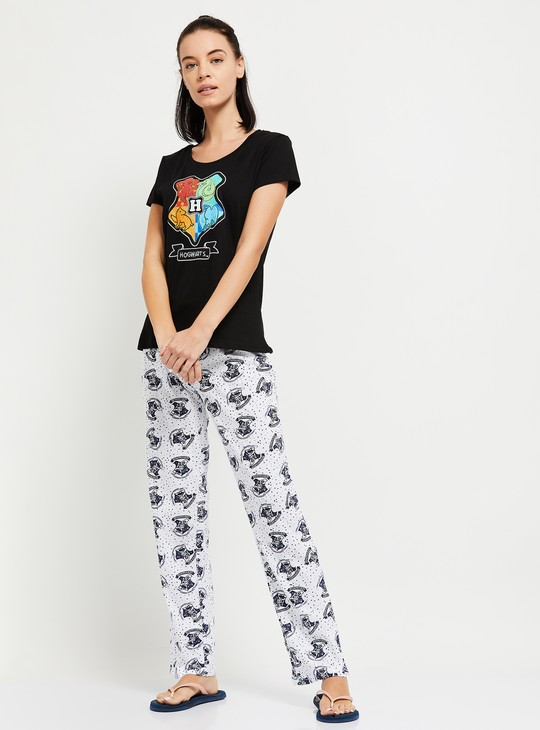 MAX Harry Potter Print Lounge T-shirt with Pyjama Pants