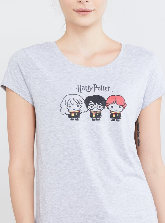 MAX Harry Potter Print Lounge T-shirt with Shorts