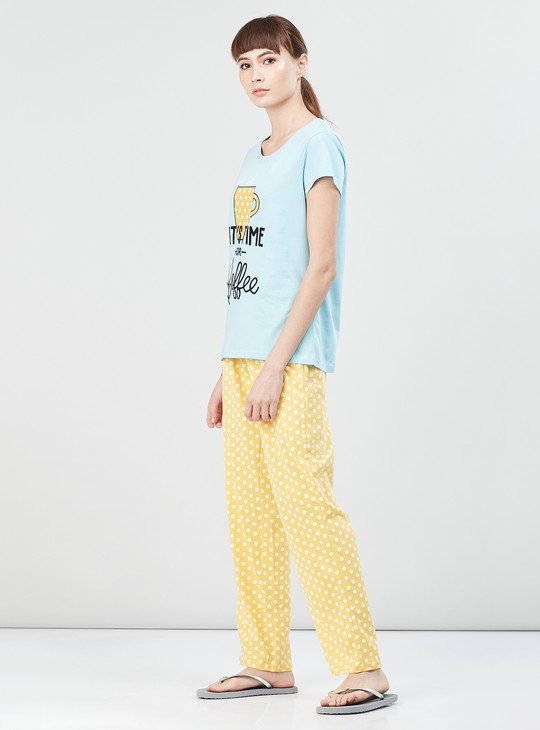MAX Printed Lounge T-shirt with Pyjamas