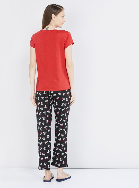 MAX Typogaphic Print Lounge T-shirt with Pyjama Pants