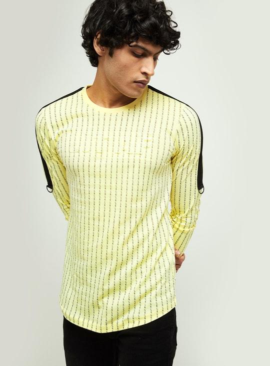 MAX Typographic Print Slim Fit T-shirt