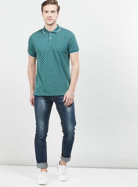 MAX Printed Slim Fit Polo T-shirt